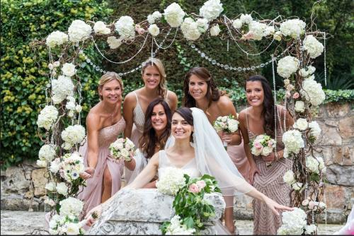 WH Wed afternoon - bride with the girls