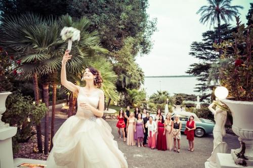 Wedding bouquet moment