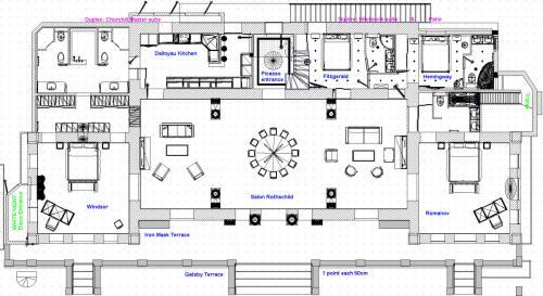 Plan Accommodation ground floor