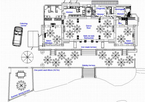 Plan Round tables & dance floor 80